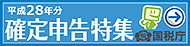 平成28年度分確定申告ページ