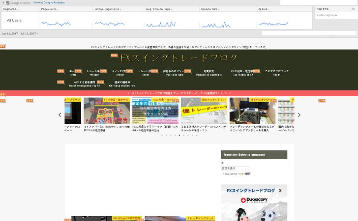 Page Analytics(ページアナリティクス)の参考画像