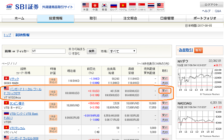 SBI証券NISA口座での海外ETFの買い方(3)